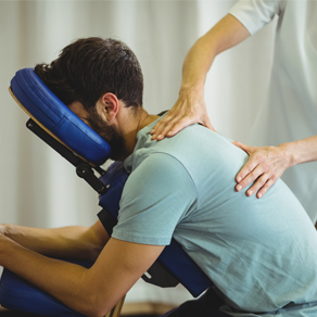 man having back adjusted